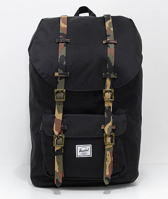5142cd7b47c055 Herschel Supply Co. Little America Black Woodland Camo 25L Backpack | Zumiez