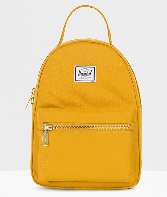 810c5664b Herschel Supply Co. Nova Arrowhead Yellow Mini Backpack | Zumiez