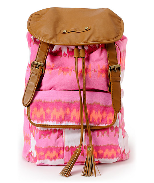 5ab29ed39a Hurley One And Only Pink & Orange Backpack