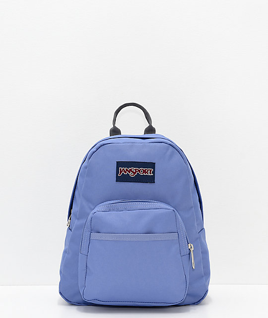 3a3b58c39f5 JanSport Half Pint Bleached Denim Mini Backpack | Zumiez