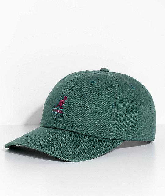 60144093bc3361 Kangol Algae Green Washed Strapback Hat | Zumiez