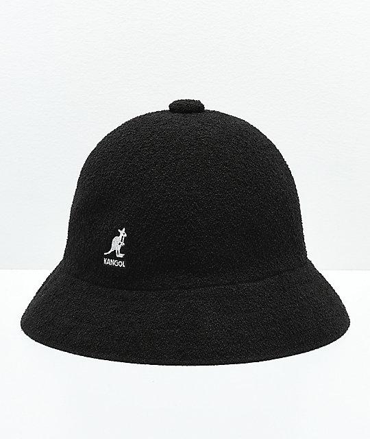 8112935f Kangol Bermuda Casual Black & White Bucket Hat   Zumiez