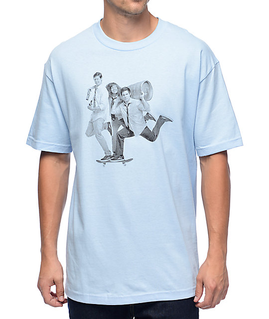 686c2f55a5224e Lakai x Workaholics Beer Run Blue T-Shirt