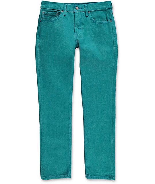Levi 511 Jeans Blue Color Turquesa Estrechos En Port CoerBdx