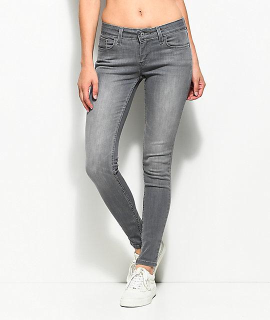 12493d06039 Levi's 535 Grey Smoke Super Skinny Jeans | Zumiez