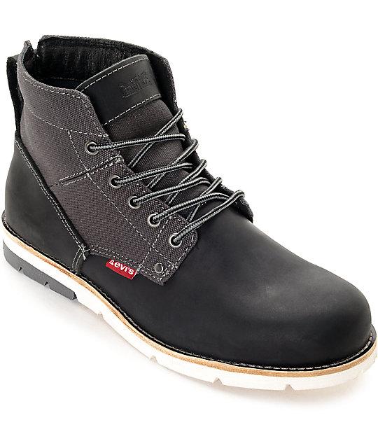 95d616257bec3 Levi's Jax Black & Charcoal Boots | Zumiez