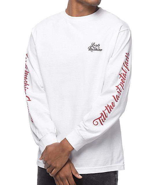 1497d88071cb Loser Machine Co Lost Love White Long Sleeve T-Shirt | Zumiez