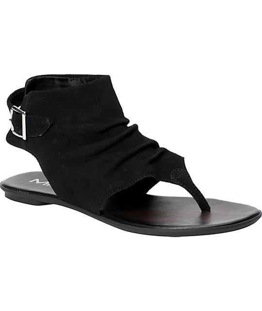 8418ba1baf2 MIA Hayat Black Suede Sandals | Zumiez