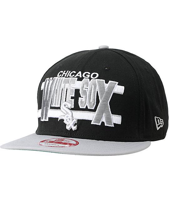 1d7c2b7f2 MLB New Era Chicago White Sox Word Stripe Snapback Hat | Zumiez