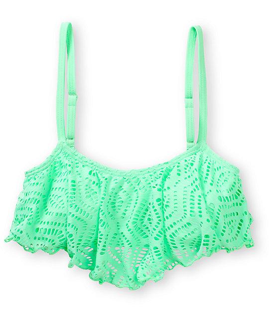 Top Crochet Flounce Bikini Mint Malibu Kl1cFJ