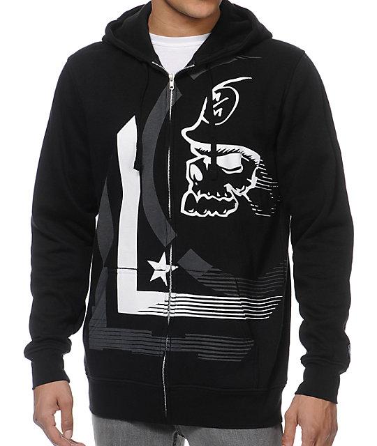 3979efd94 Metal Mulisha Diminish Black & White Zip Up Hoodie | Zumiez