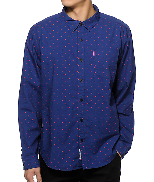 59c31cb6a7c1a Mishka Suits Long Sleeve Button Up Shirt | Zumiez