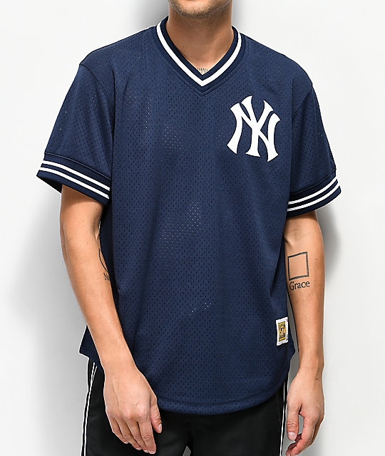 new arrival 96dbe 8ba54 Mitchell & Ness Yankees Navy Mesh Jersey