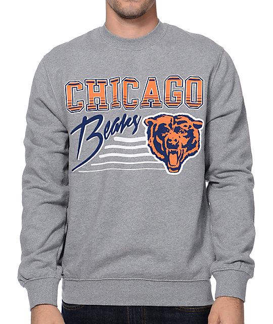 quality design 632e1 5d8c0 Mitchell and Ness NFL Chicago Bears Training Room Grey Crew Neck Sweatshirt