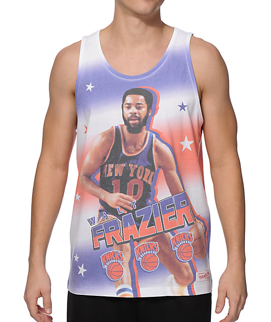 official photos 2b1a5 ef4ce Mitchell and Ness NY Knicks Walt Frazier Tank Top