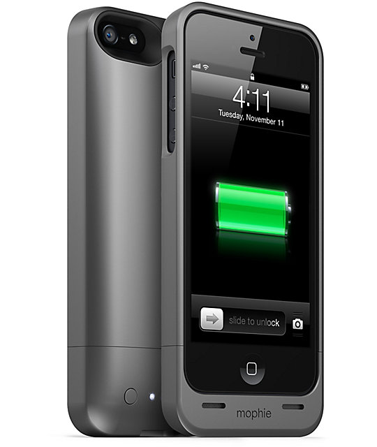 quality design 6163a 6c97a Mophie Juice Pack Helium Black iPhone 5 Charge Case