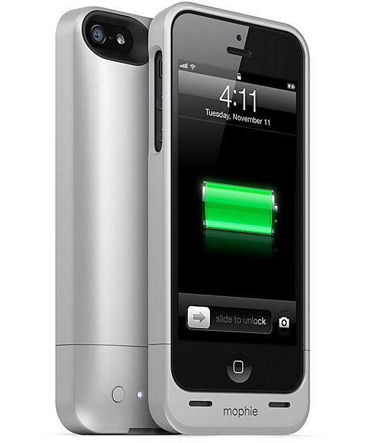 sports shoes 962cd f9073 Mophie Juice Pack Helium Silver iPhone 5 Charge Case