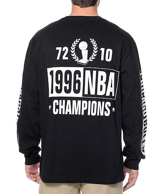 super popular 8014f 2c4d6 NBA Mitchell and Ness Bulls Free Throw Black Long Sleeve T-Shirt
