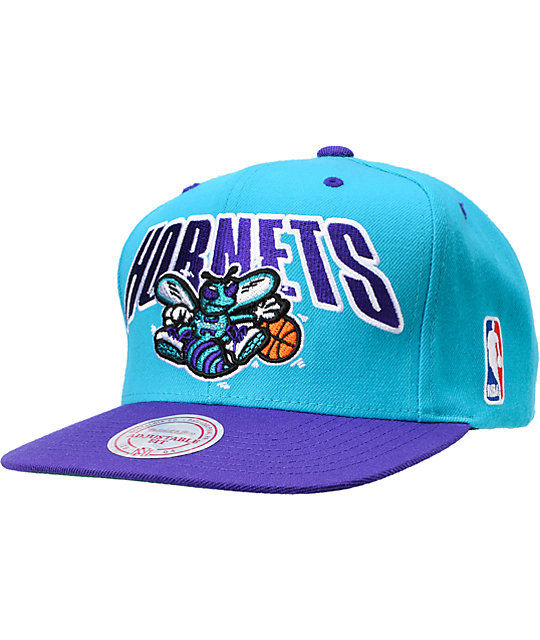 6f8cc848760e0 NBA Mitchell and Ness Charlotte Hornets Snapback Hat   Zumiez