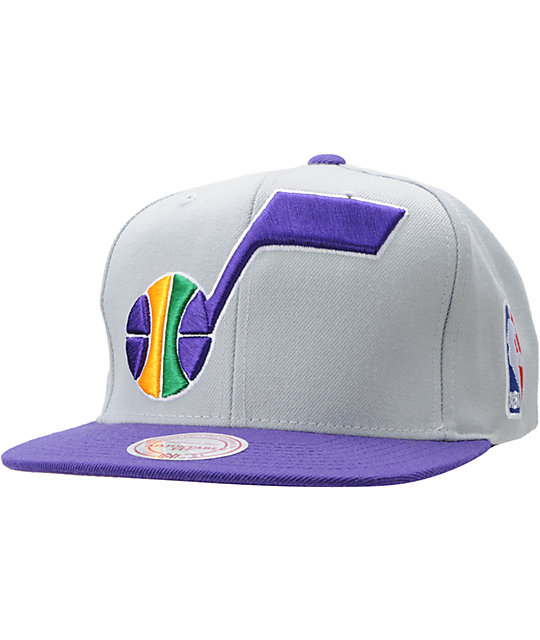 0a8cf0bc098114 NBA Mitchell and Ness Utah Jazz Snapback Hat | Zumiez