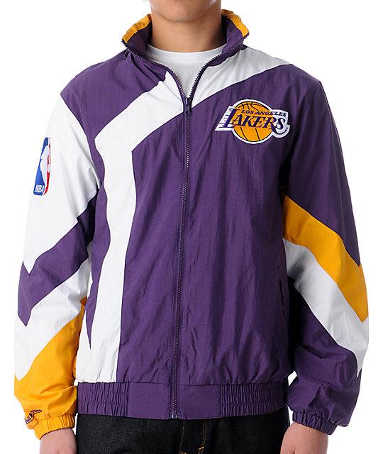finest selection 84f2c 4b0d2 NBA Mitchell and Ness Vintage LA Lakers Windbreaker   Zumiez