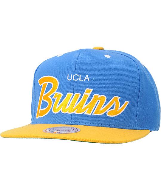NCAA Mitchell and Ness UCLA Script Snapback Hat | Zumiez
