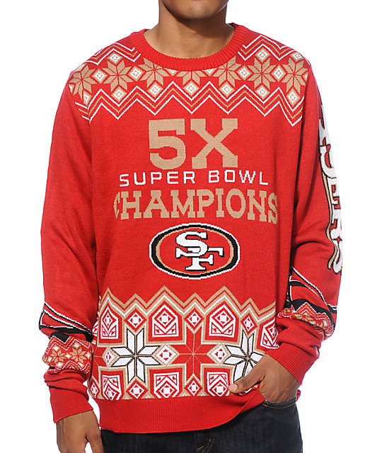 86629691 NFL Forever Collectibles 49ers Super Bowl Sweater