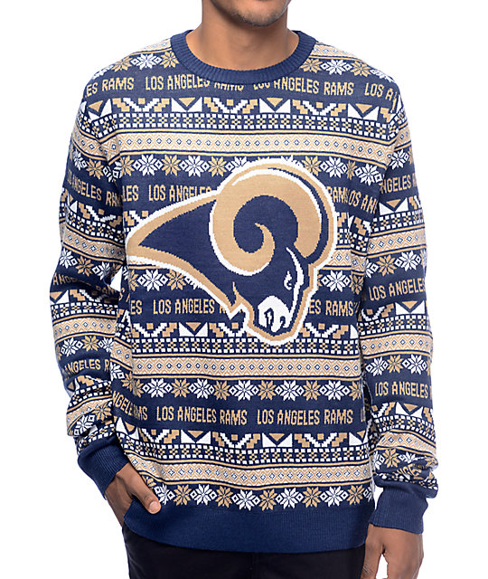 online store 407c1 55569 NFL Forever Collectibles LA Rams Aztec Sweater