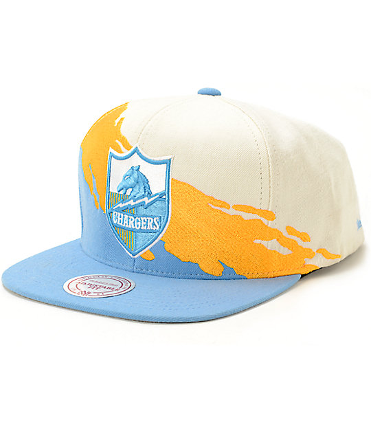 5ea0dec922c78a NFL Mitchell and Ness Chargers Paintbrush Snapback Hat | Zumiez