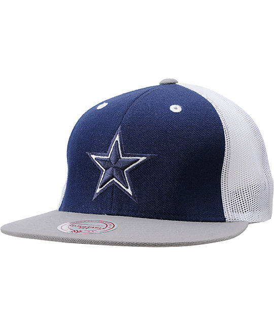 f41efe4f769098 NFL Mitchell and Ness Dallas Cowboys Mesh Snapback Hat | Zumiez