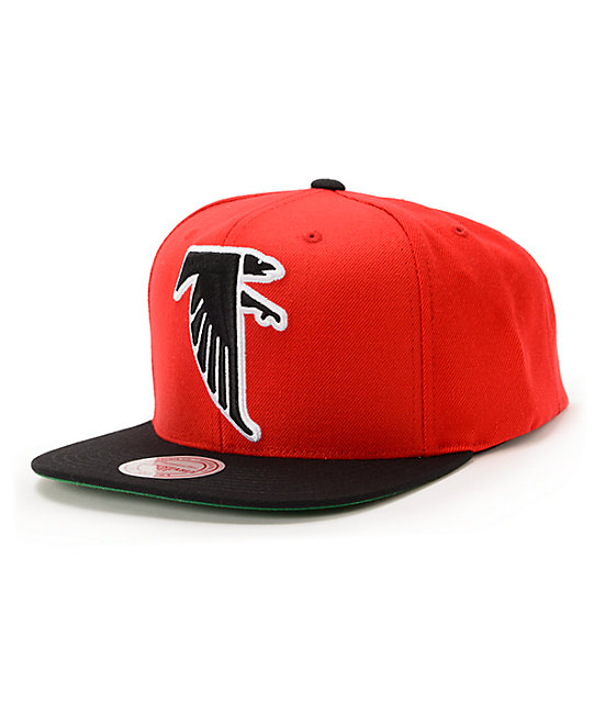 designer fashion 0af04 d939a NFL Mitchell and Ness Falcons XL Logo 2Tone Red Snapback Hat