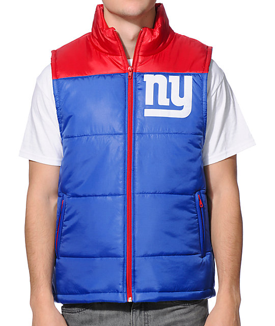 outlet store sale d4314 16bd5 NFL Mitchell and Ness Giants Blue Vest