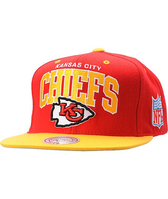 check out e4d32 3e6d7 NFL Mitchell and Ness Kansas City Chiefs Snapback Hat   Zumiez
