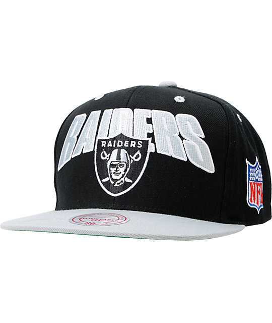 best service d43be 6d9ae NFL Mitchell and Ness Oakland Raiders Flashback Snapback Hat