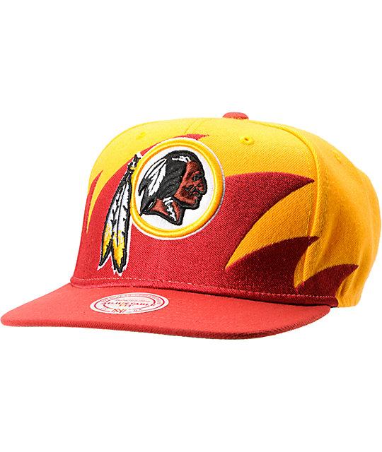 info for 21575 6ab63 NFL Mitchell and Ness Redskins Sharktooth Snapback Hat | Zumiez