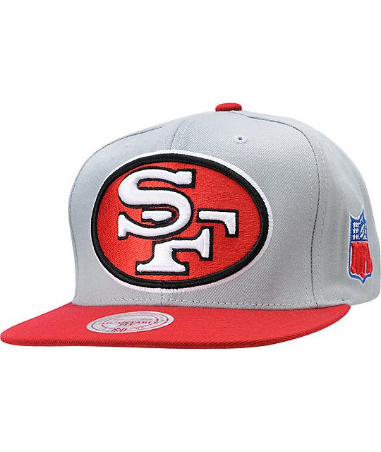 promo code 0621d d07ea NFL Mitchell and Ness San Francisco 49ERS XL Snapback Hat ...
