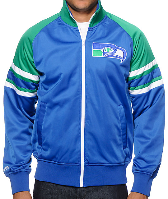 best loved be734 68385 NFL Mitchell and Ness Seahawks Trade Deadline Track Jacket