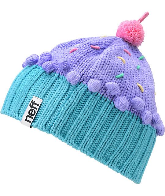 7966baae8 Neff Confetti Pastel Purple Cupcake Beanie