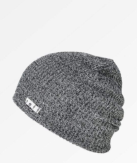 42135687946e41 Neff Daily Heather Black & White Beanie | Zumiez