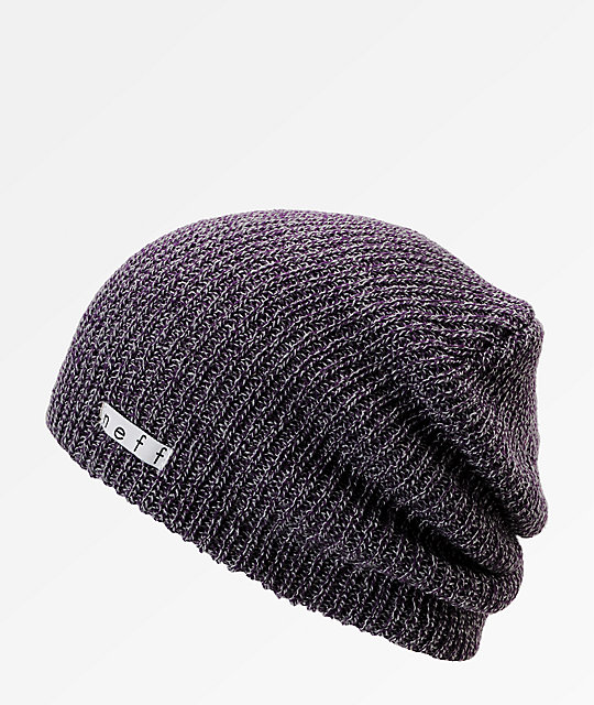 78a1aa4f49135e Neff Daily Heather Purple & Grey Beanie | Zumiez