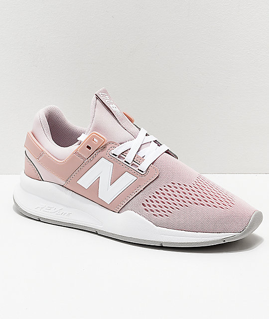 free shipping b6f03 08817 New Balance Lifestyle 247 Classic Conch Shell & White Shoes
