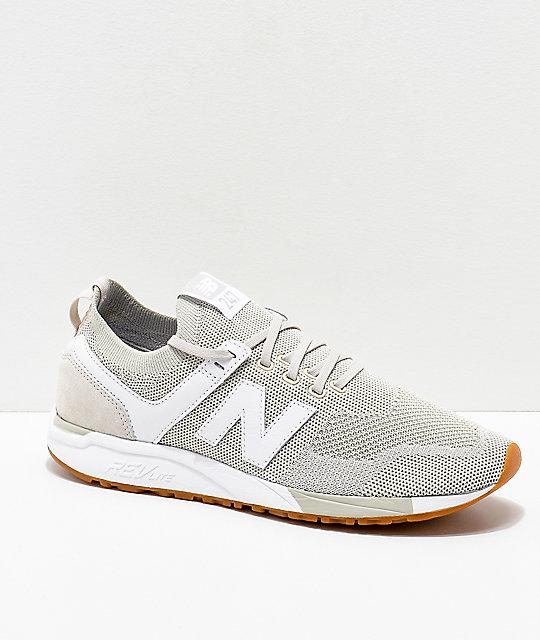 brand new 4c4bf c097b New Balance Lifestyle 247 Deconstructed Moonbeam & White Shoes