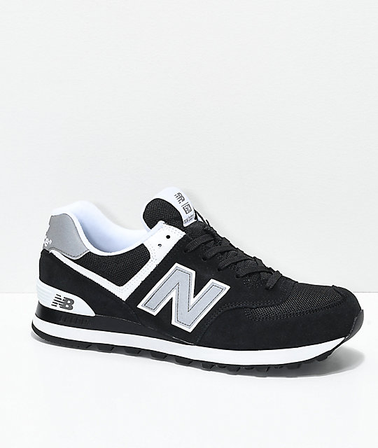 separation shoes 6bb2e 06faf New Balance Lifestyle 574 Black & White Shoes