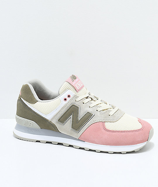 new concept d37fc 33dc8 New Balance Lifestyle 574 Bone & Dusted Peach Shoes