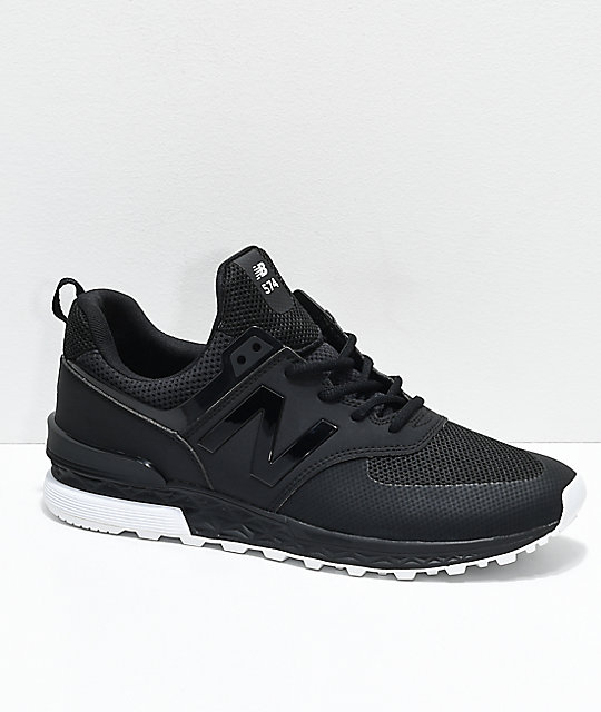 official photos 78386 5cdd0 New Balance Lifestyle 574 Sport Black & White Shoes