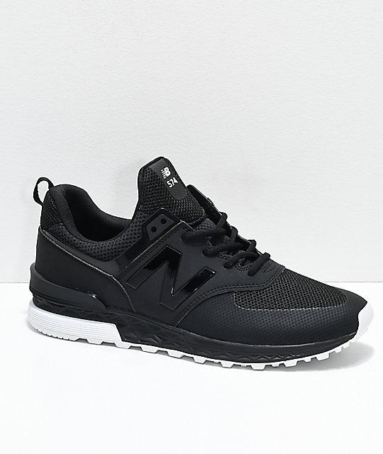 official photos de0d8 5f438 New Balance Lifestyle 574 Sport Black & White Shoes