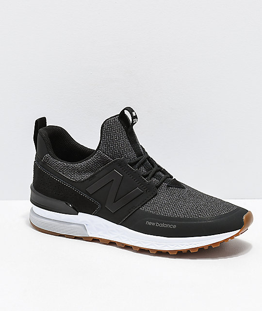 new product 6400c fa852 New Balance Lifestyle 574 Sport Decon Black & Magnet Grey Shoes