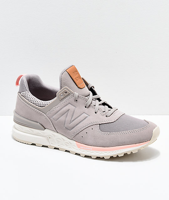cheap for discount ca841 ac2a1 New Balance Lifestyle 574 Sport Flat White & Himalayan Pink Shoes