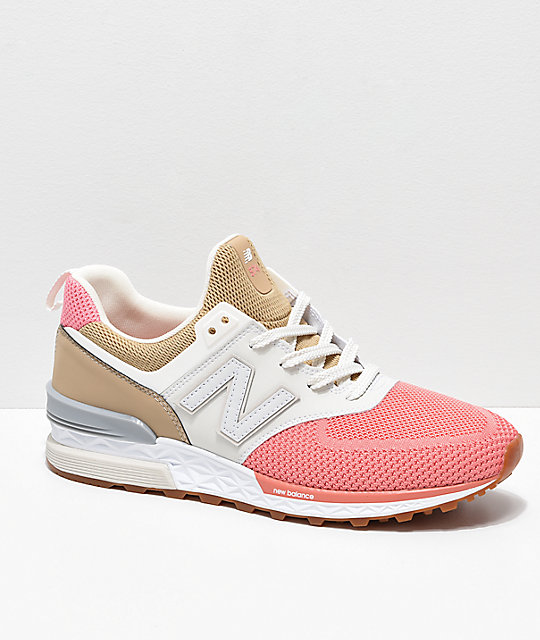 watch 1db62 56233 New Balance Lifestyle 574 Sport Hemp, Dusted Pink & Grey Shoes