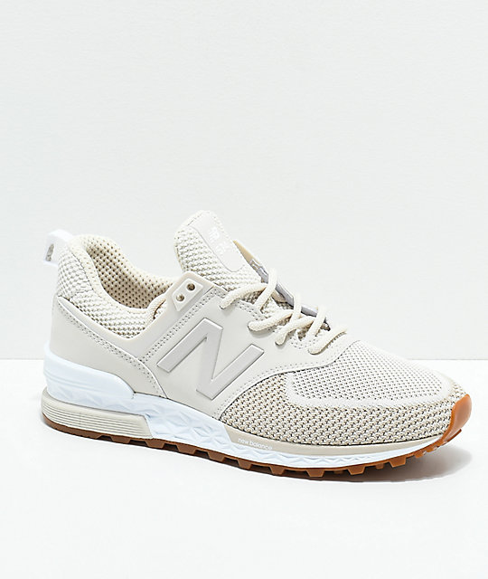 check out 73324 b7ba3 New Balance Lifestyle 574 Sport Moonbeam & White Shoes